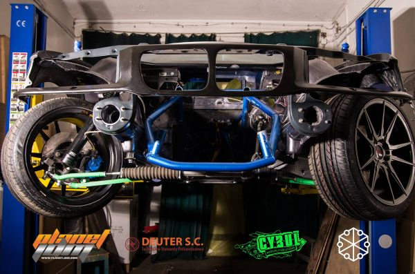 1996 BMW E36 with an EMRAX 228 electric motor