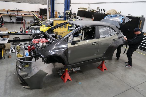2019 Corolla with a turbo 2AR inline-four and RWD drivetrain