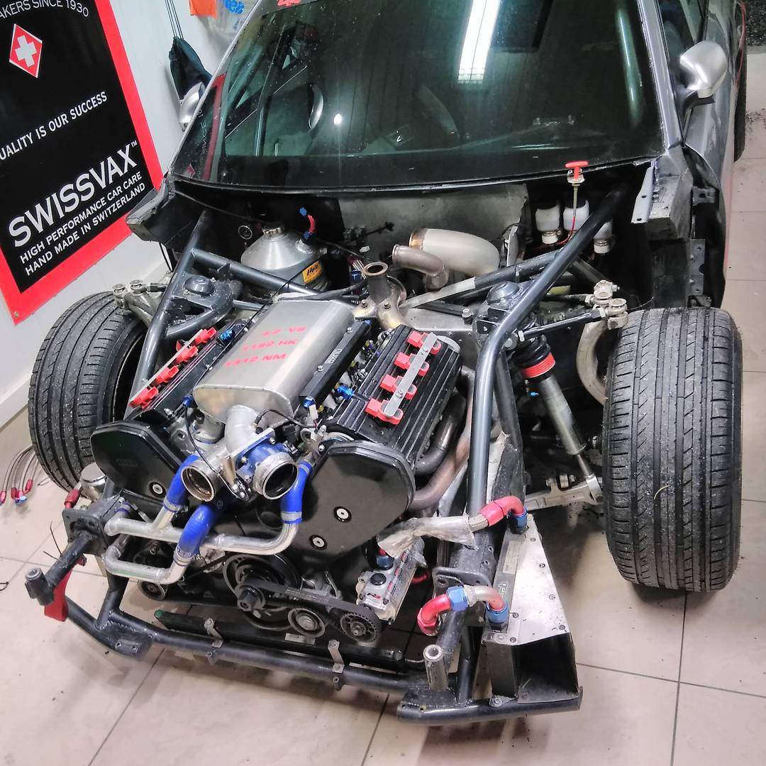 Twin Turbo Kit For Audi Rs4: Audi RS4 With A 1000+ Whp Twin-Turbo 4.2 L V8