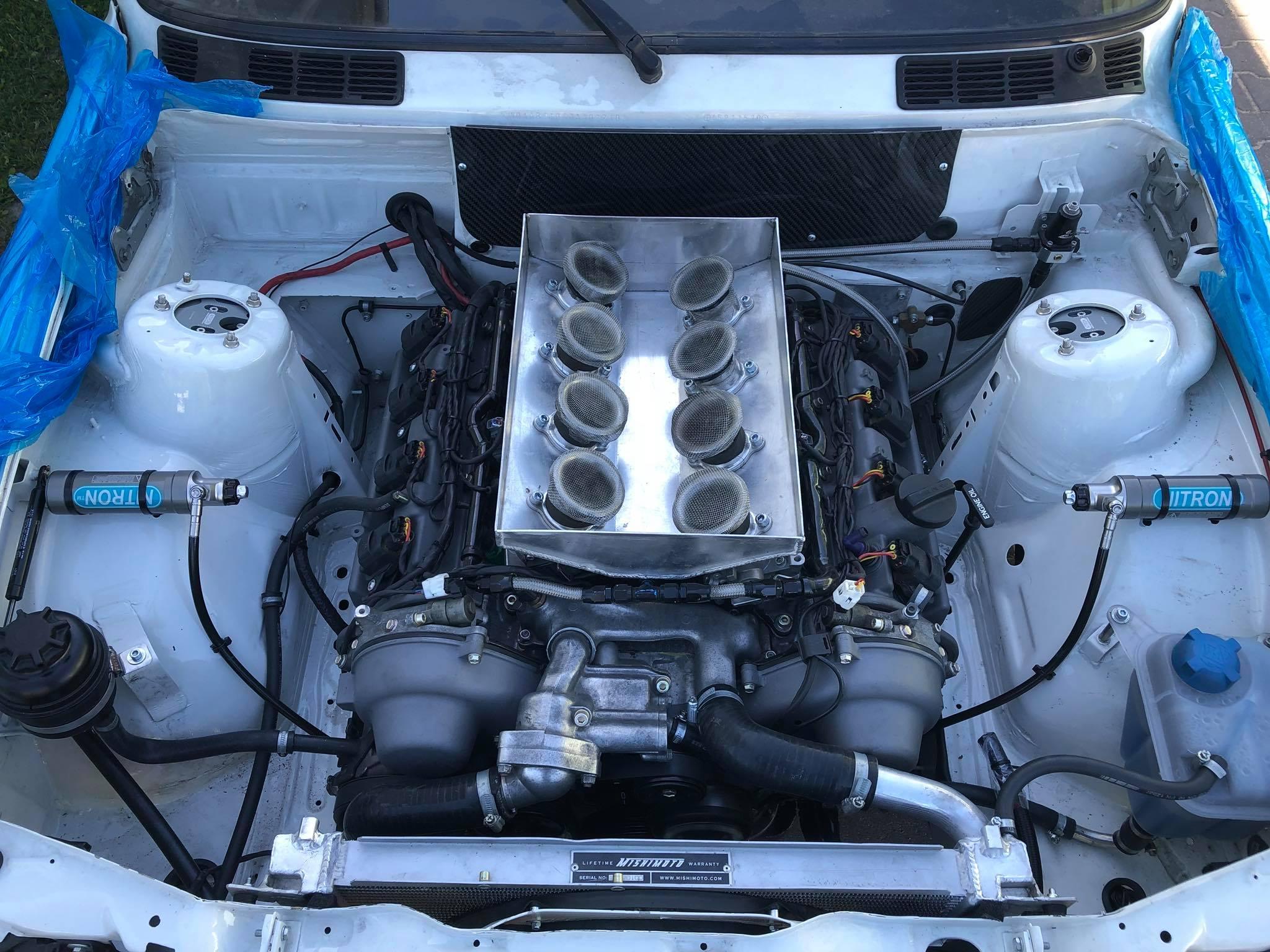 BMW E30 with a 1UZ V8 - engineswapdepot com