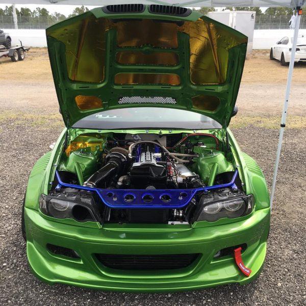 BMW E46 with a turbo 2JZ inline-six