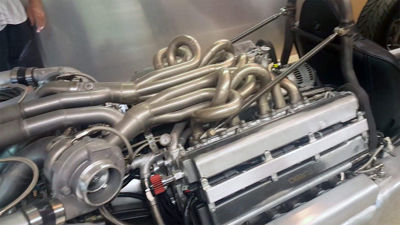 Custom F1 hot rod with a V12 made from two 1JZ engines