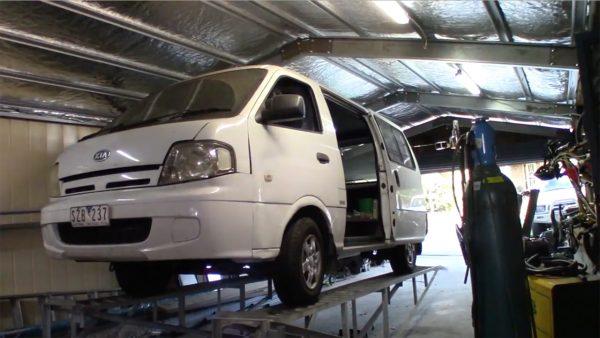Kia Pregio Van with a LSx V12