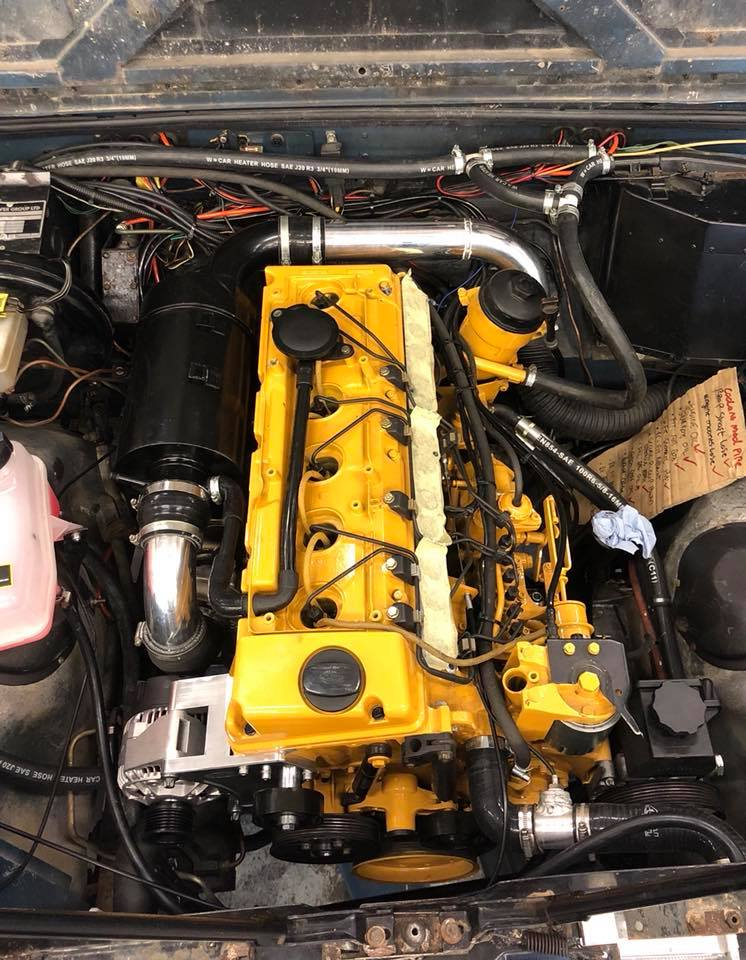 Land Rover Defender with a Mercedes OM606 Turbo Diesel – Engine Swap