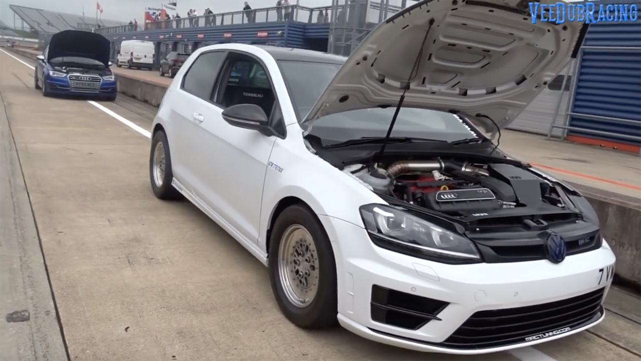 Golf R With A Turbo Inline Five Goes 0 60 Mph In 1 92 Sec Engine Swap Depot