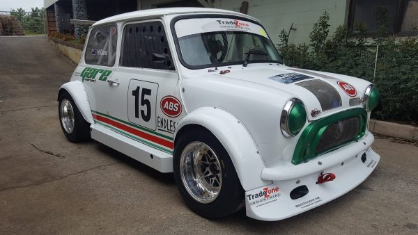 1976 Mini with a turbo 4A-GE inline-four