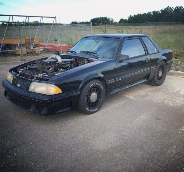 1988 Mustang with a 6BT Turbo Diesel Inline-Six