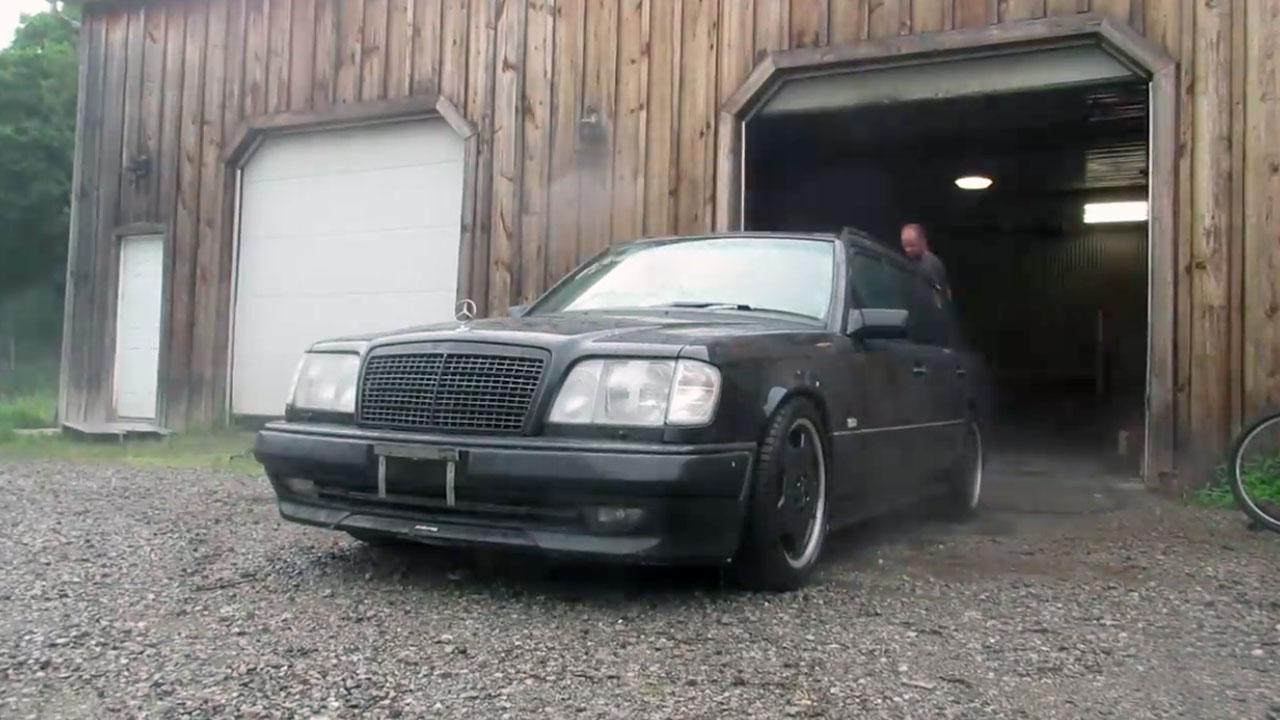 Deboss Garage 1994 Mercedes W124 E320 with a turbo LSx V8