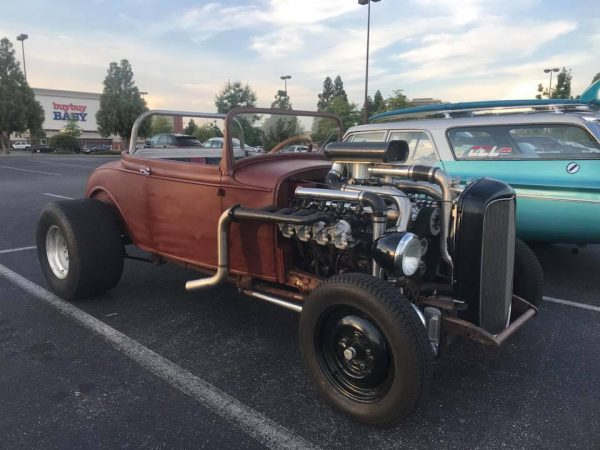 Ford Model A with a supercharged and eight turbo SBC V8