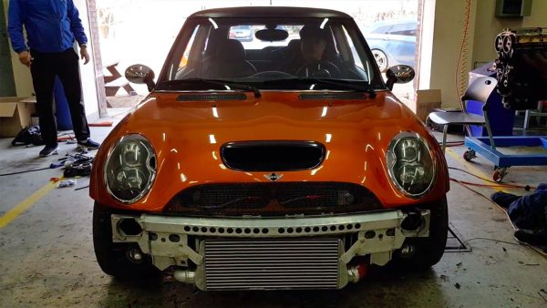 Mini Cooper S with a Hyundai turbo 1.6 L inline-four