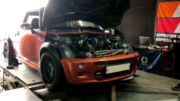Mini Cooper S with a Hyundai turbo 1.6-L inline-four