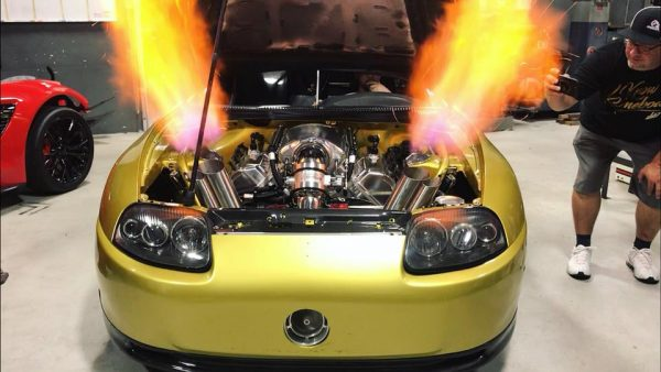 Toyota Supra with a Turbo Hemi V8
