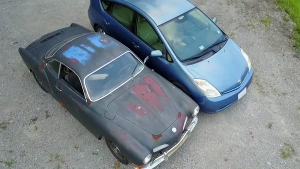 1971 Karmann Ghia with a Prius Powertrain
