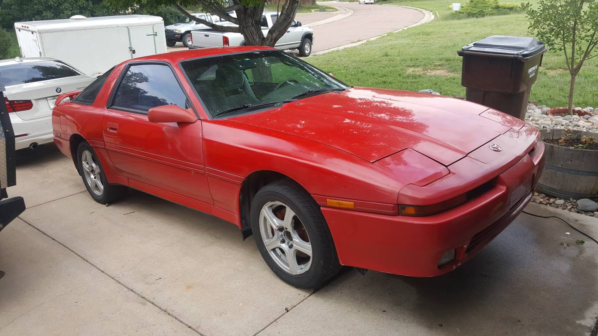 This 1991 Toyota Supra Is For Sale In Colorado Springs 4000 Under The Hood Sits A 40 L 1UZ V8 From 1993 Lexus SC400 With SupraStore