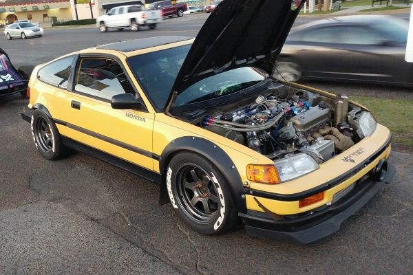 4WD Honda CRX with a turbo F22 inline-four