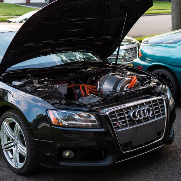 Audi S5 with a Tesla Model S P85 electric motor