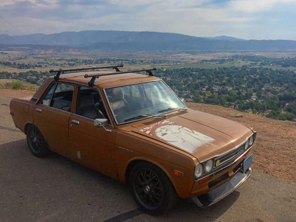 Datsun 510 with a Turbo 4G63 inline-four