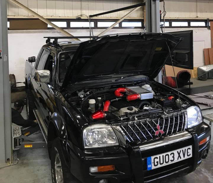 Mitsubishi L200 with a Mercedes Turbo Diesel Inline-Five