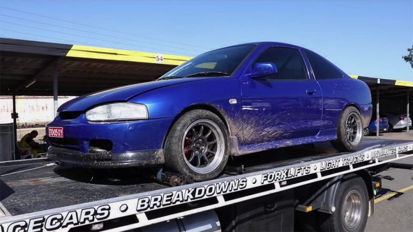 Mitsubishi Lancer with a 4G69 inline-four