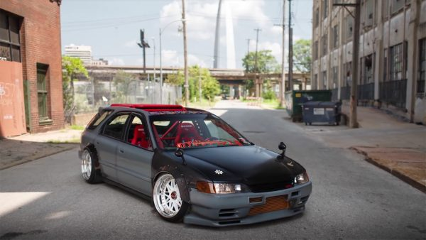 RWD 1994 Accord wagon with a turbo RB25DET inline-six