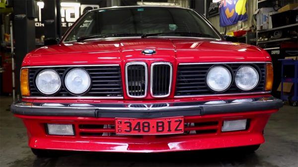 1986 BMW 635CSi with a turbo 2JZ inline-six