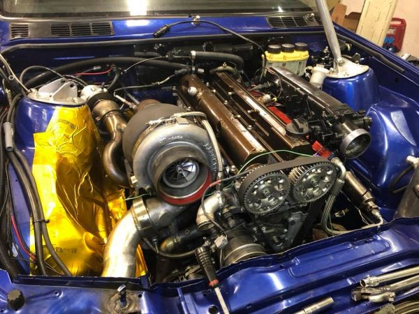 BMW E30 M3 with a turbo 2JZ inline-six
