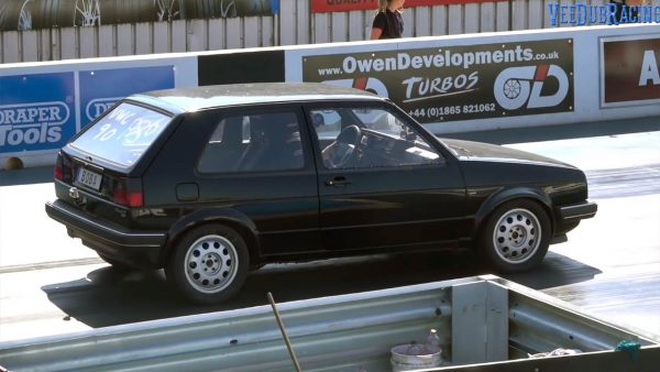 Boba Motoring Golf Mk2 with turbo 2.0 L ABF inline-four