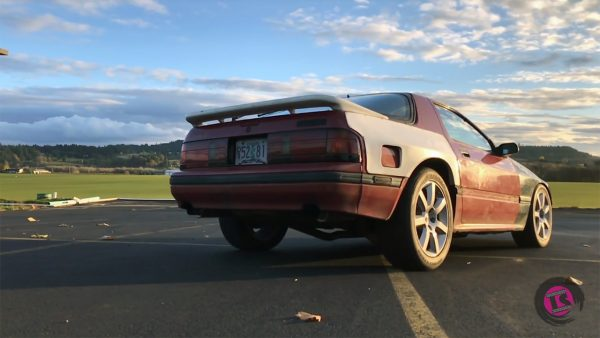 Mazda RX7 with a twin-turbo VG30 V6
