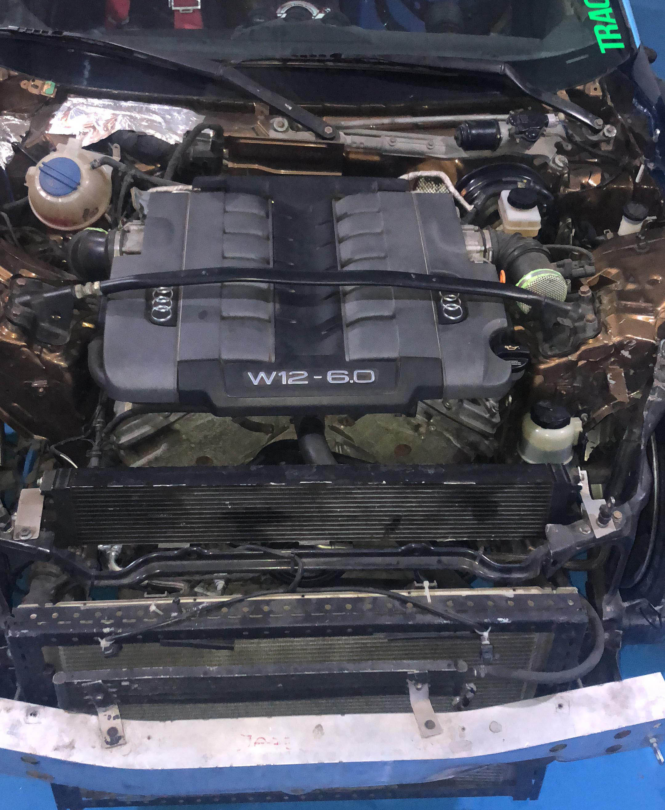 Nissan 350Z with an Audi W12 – Engine Swap Depot