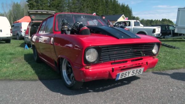 Opel Kadett with a Twin-Turbo LSx V8