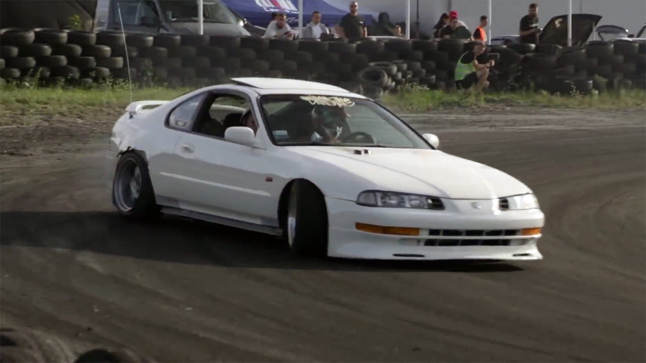 RWD Honda Prelude with a Turbo Mercedes Inline-Four – Engine