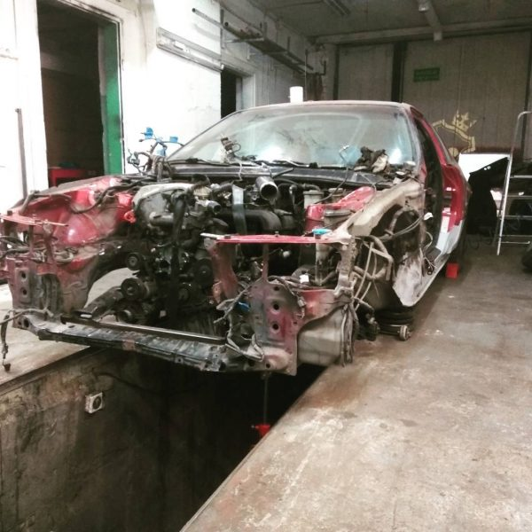 RWD Honda Prelude with a turbo M111 inline-four