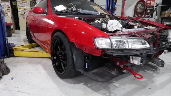 Speed Academy Nissan 240SX with a K24 inline-four