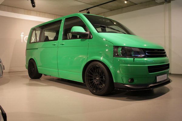 VW Transporter with a Porsche Twin-Turbo Flat-Six