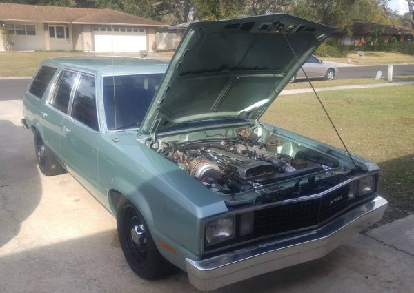 1978 Ford Fairmont wagon with a turbo 2JZ inline-six