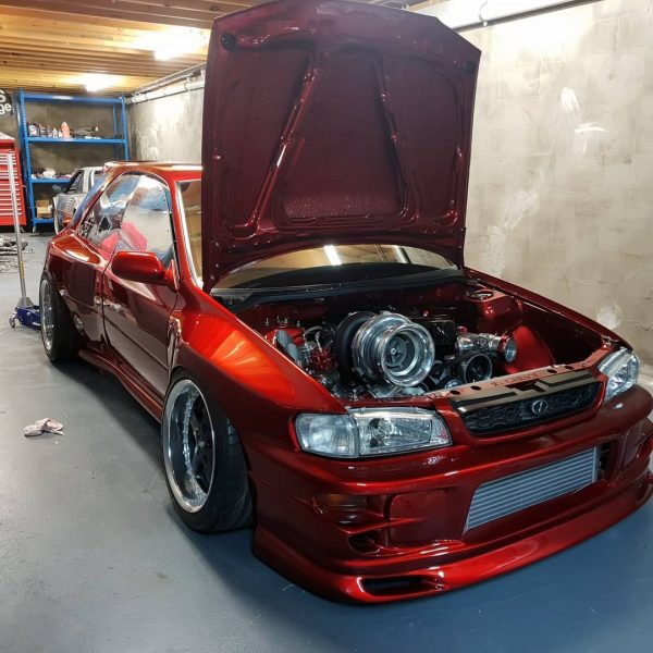 1995 Subaru WRX with a turbo 2JZ inline-six