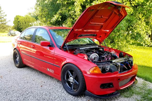 1999 BMW E46 323i with a turbo 2JZ inline-six