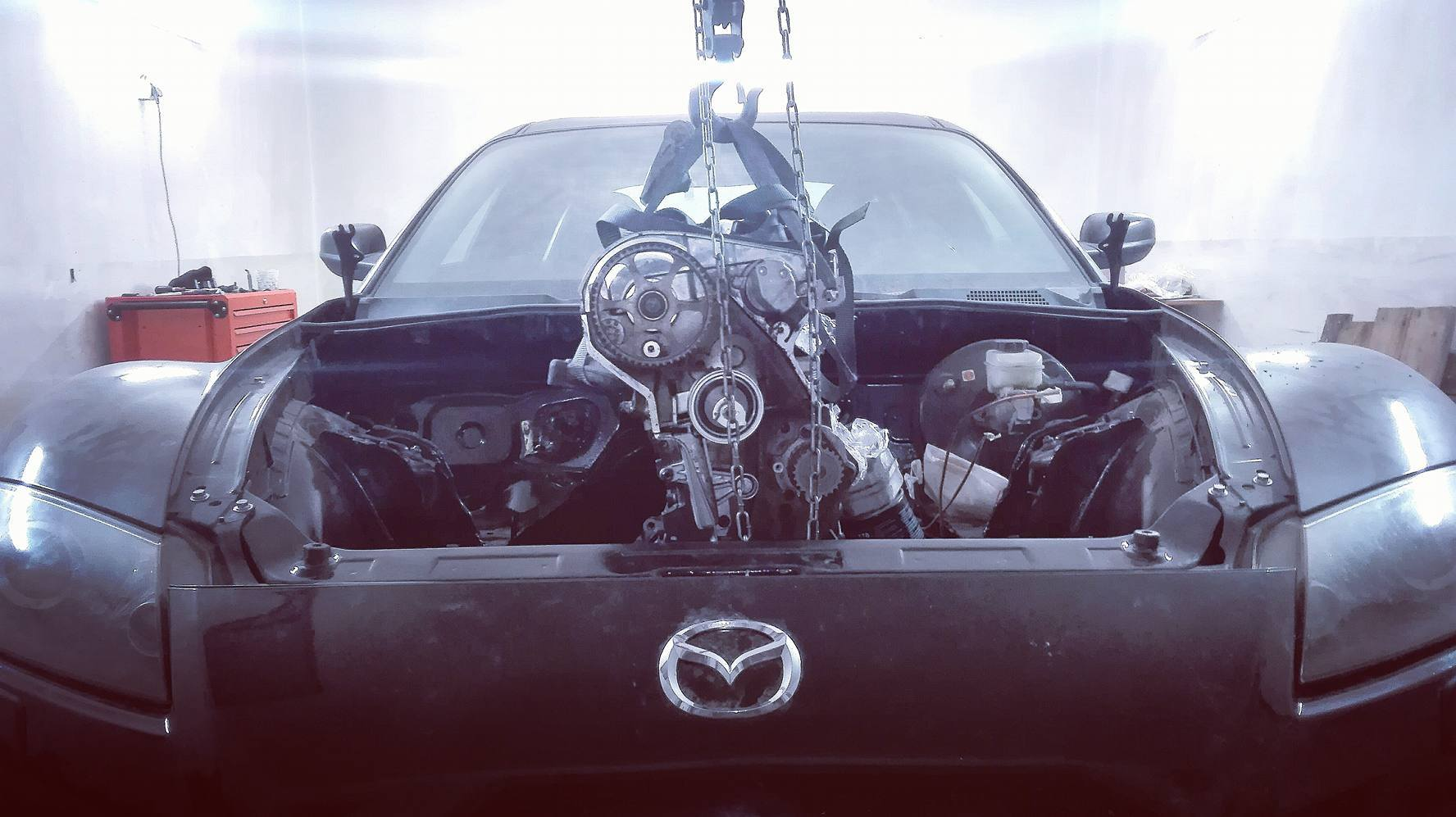 Mazda RX-8 with an Audi 1 8T – Engine Swap Depot