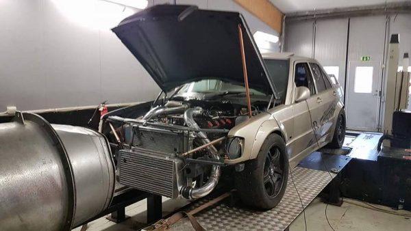 Mercedes 190E with a Turbo M119 V8