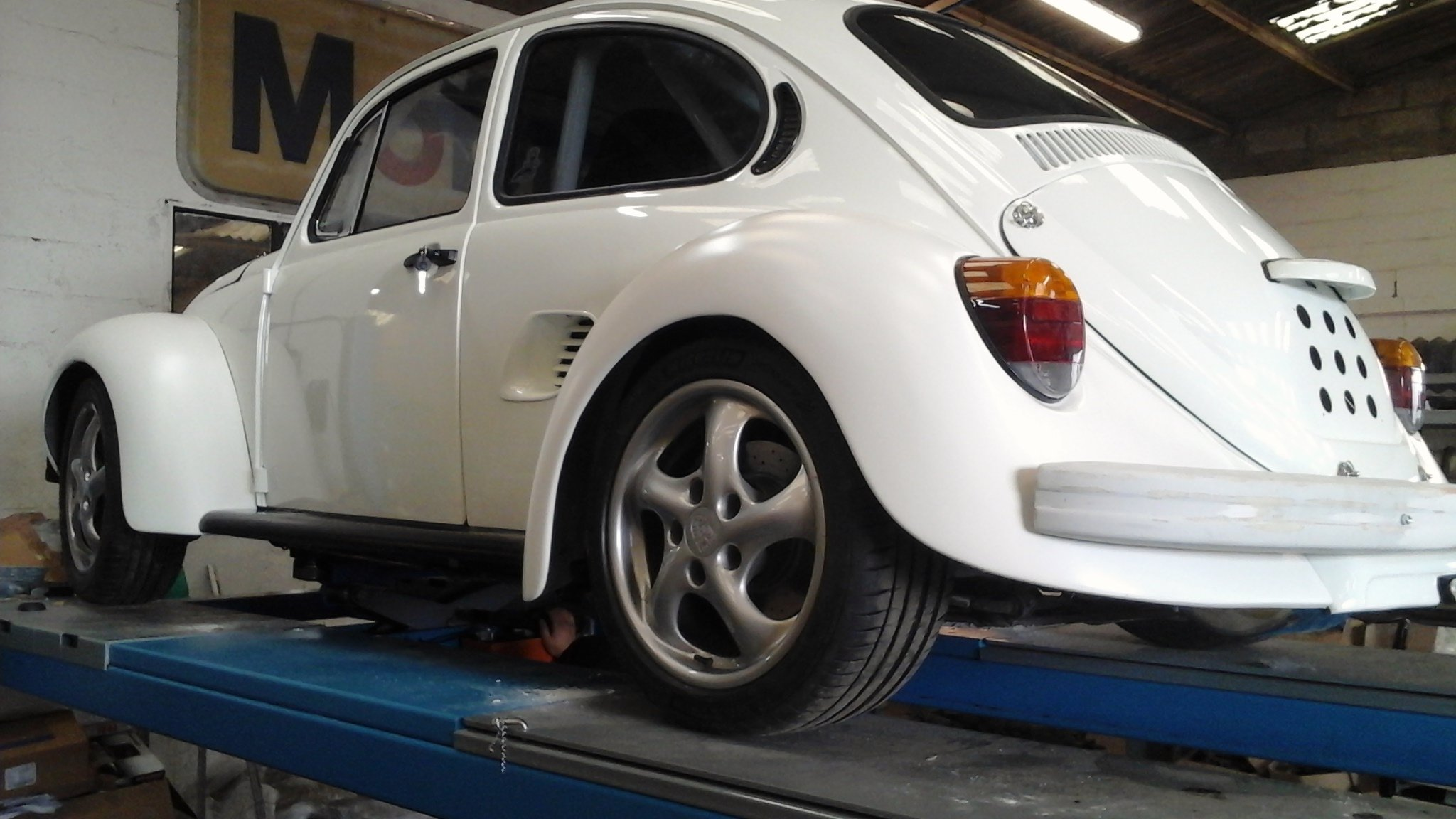 VW Beetle Body on a Porsche Boxster Chassis Update ...