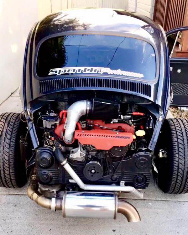 1969 Beetle with a Subaru turbo EJ207 flat-four