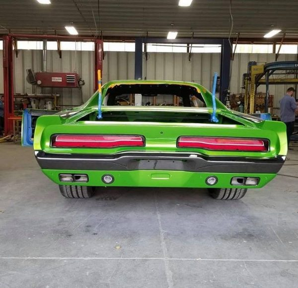 1969 Charger with a 2016 Hellcat chassis and V8