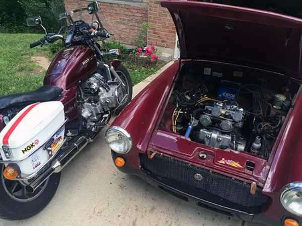 1979 MG Midget with a Honda Magna V4