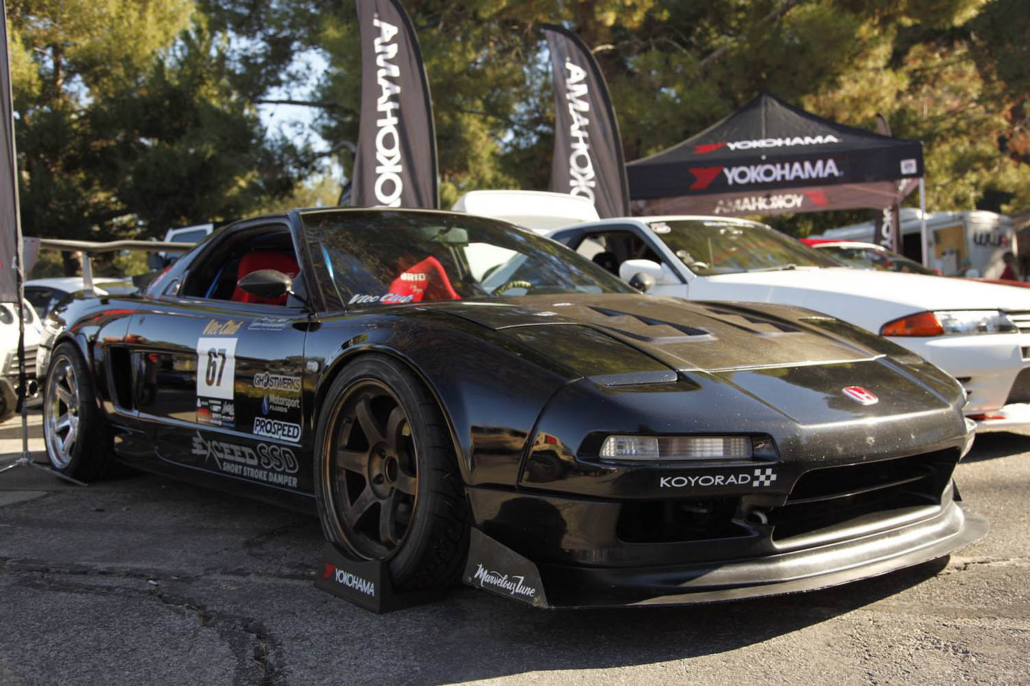 Acura NSX with a turbo K20 inline-four