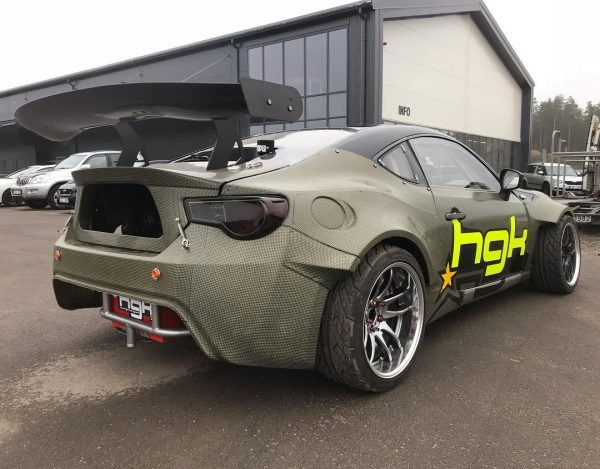 HGK Racing carbon Toyota GT86 with a LSx V8