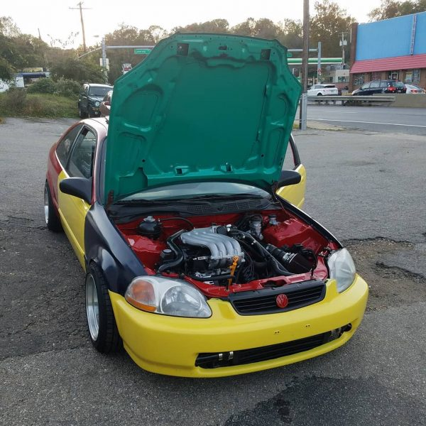 Honda Civic with a turbo VW 2.0 L inline-four
