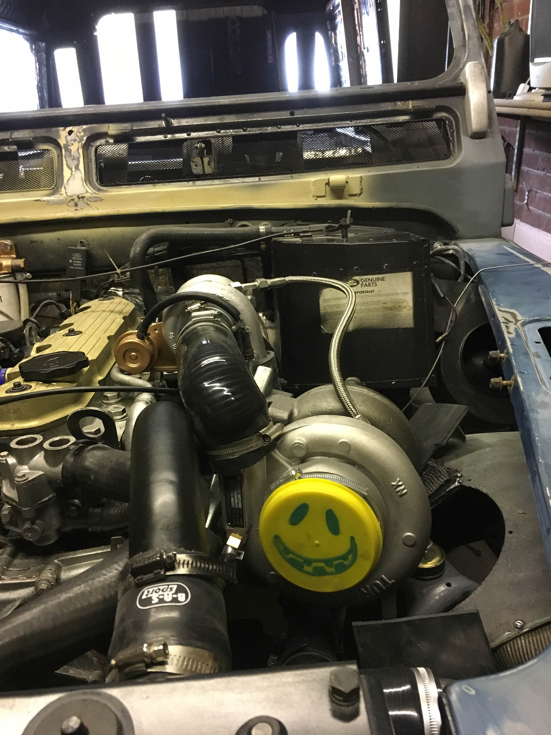 Land Rover Defender with a Twin-Turbo Diesel Inline-Four