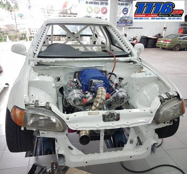 RWD Honda Civic with a 3UZ V8