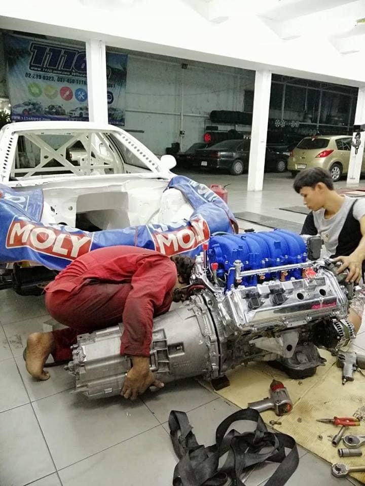 RWD Honda Civic with a 3UZ V8 – Engine Swap Depot