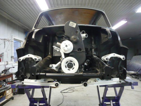 RWD Mini with a Volvo turbo B230 inline-four